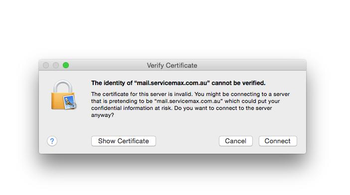 SSL Certificates in Mac Mail - ServiceMax
