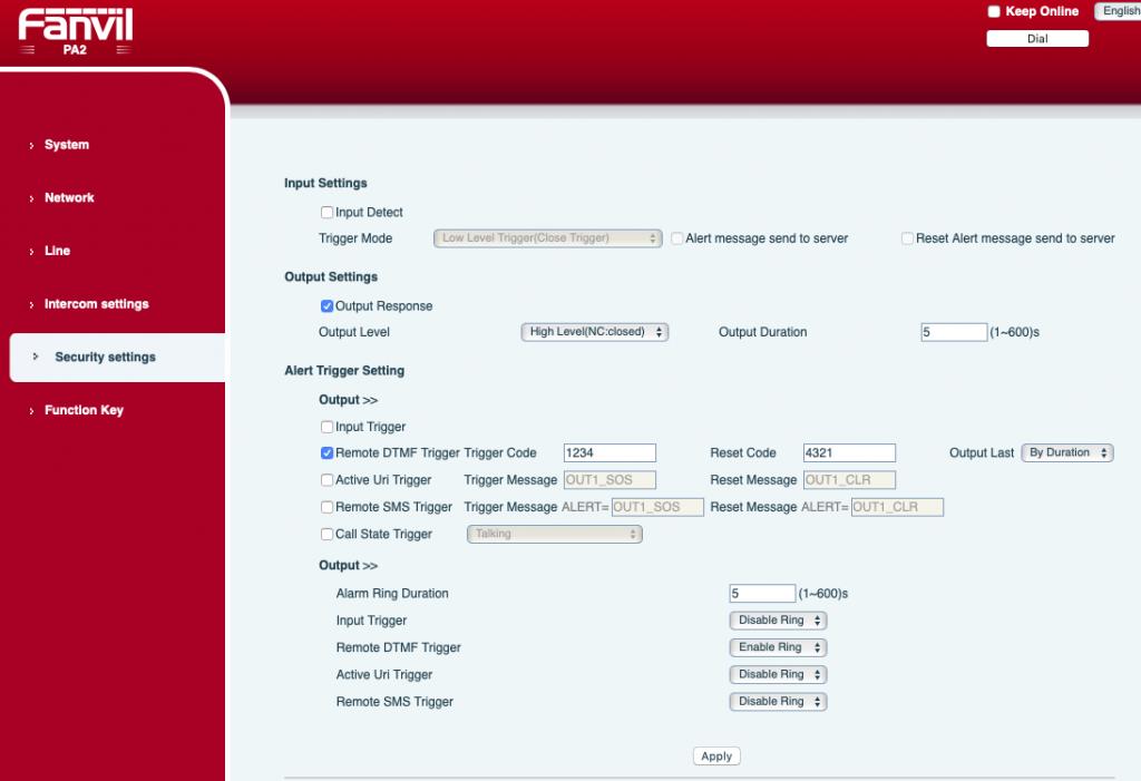 Fanvil PA2 Setup for 3CX - ServiceMax